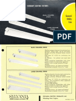 Sylvania Economy Strip & Industrial Fluorescent Spec Sheet 1962