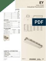 Sylvania EY Reflector Low Cost Fluorescent Industrial Spec Sheet 5-80