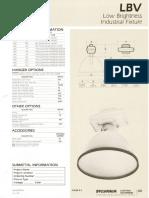 Sylvania LBV Low Brightness HID Industrial Spec Sheet 6-82