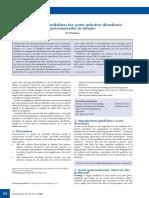 Management guidelines for acute infective diarrhoea/ gastroenteritis in infants