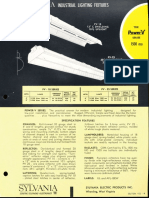 Sylvania Power-V 1500ma Fluorescent Industrial Spec Sheet 1962