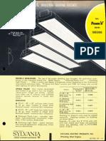 Sylvania Power-V Shielding Fluorescent Industrial Spec Sheet 1962