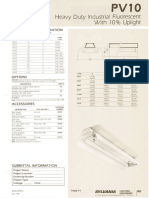 Sylvania PV10 Heavy Duty Fluorescent Industrial Spec Sheet 5-80
