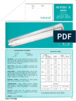 Sylvania Sentry II Industrial Vaportight Fluorescent Spec Sheet
