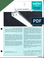 Sylvania Sentry Industrial Vaportight Fluorescent Spec Sheet 6-69