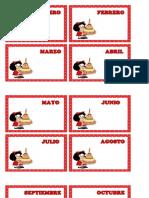 Cartel Cumpleaños Mafalda