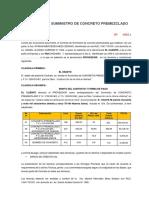 Modelo de Contrato de Suministro de Concreto