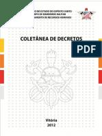 Coletania Decretos CBMES 2012