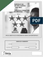Prova Bahiana Medicina PROSEF 2016-1-1aFase
