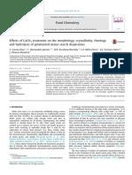Effects of CaCO3 Treatment orphology, Crystallinity, Rheology