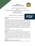 Informe Nº 2 - Peso Especifico Del Cemento