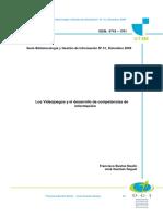 Los Videojuegos y El Desarrollo de Competencias de Informacion (2009)