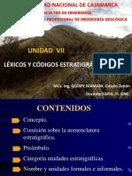 Unidad Vii Lexicos y Códigos Estratigraficos2018