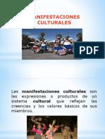 PPT. MANIFESTACIONES CULTURALES