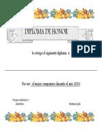 Diploma Mejor Compañero
