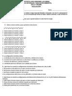 Evaluación Configuración electrónica y números de oxidacion