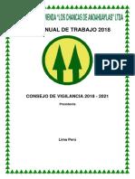 Plan Anual de Trabajo Periodo 2017
