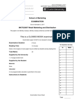 mktg3007_20172 Retail Marketing and Distribution Final Exam Past Year Questions