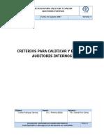 Criterios Para Calificar y Evaluar Auditores Internos