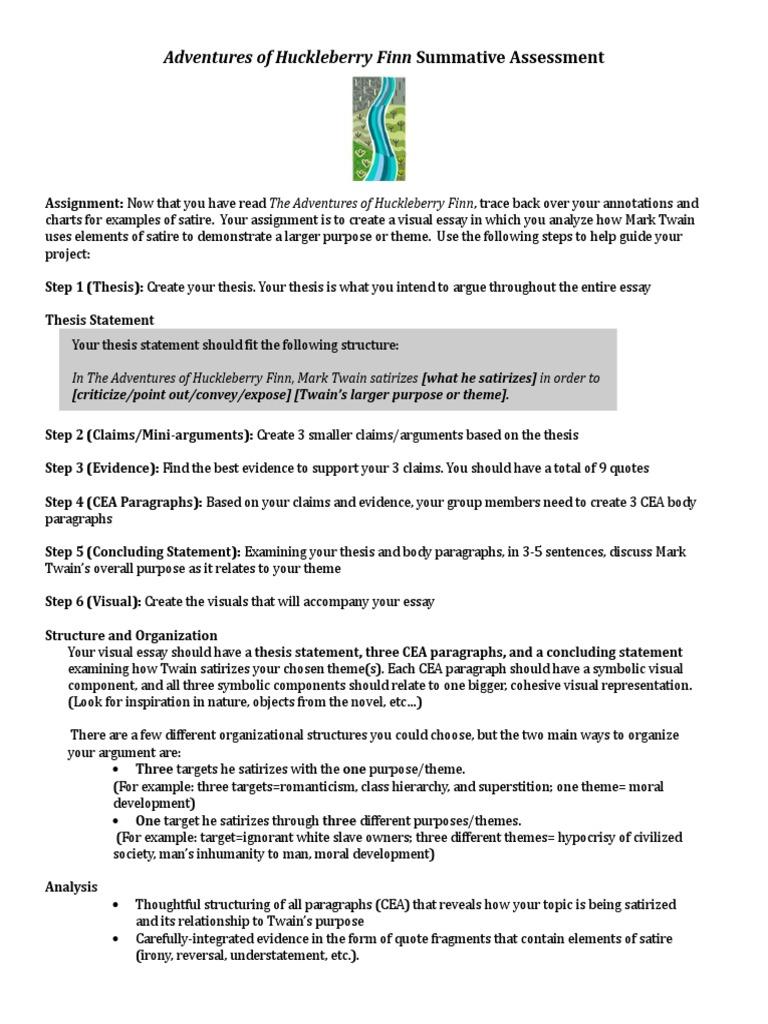huckleberry finn civilization essay