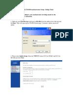 TPLink_TD8810 Bridge Mode