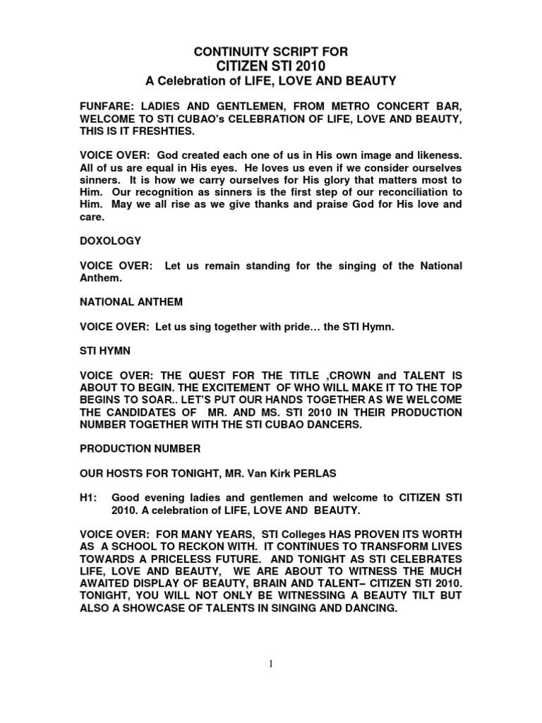 Continuity script pchs searchg leisure stopboris Choice Image