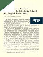 Algunos Aspectos Historiocos Del Servicio de Psiquiatria Infantil