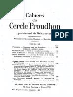 Cahiers Du Cercle Proudhon - Cahier 3 - Cahier 4