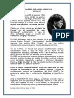 Biografía de José Carlos Mariátegui