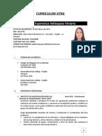 Curriculum Vitae - Velasquez Viviano - Actualizado