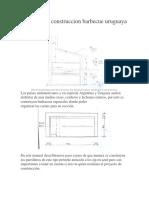 Plano de Construccion Barbecue Uruguaya