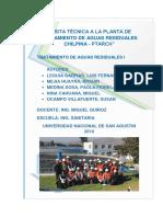 Visita Tecnica a La Planta de Tratamiento de Aguas Residuales Chilpina