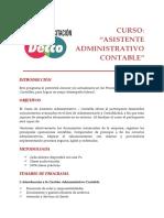 Asistente Administrativo Contable
