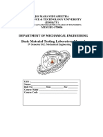 Basic Material Testing Laboratory Manual