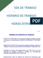 Derecho Laboral II (Derecho Laboral Individual) - Jornada Horario Trabajo