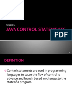 Session 2 - Control Statements