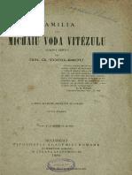 Familia Lui Mihai Viteazul Tocilescu Grigore