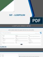 MF Lumpsum