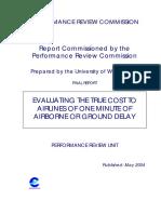 Evaluating True Cost of Delay 2004