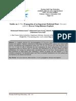 Studies on In Vitro Propagation of an Important Medicinal Plant- Curcuma zedoaria Roscoe Using Rhizome Explants
