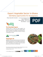 GhanaVeg Export Report
