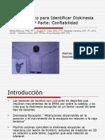 Método Clínico para Identificar Diskinesia Escapular, 1ª