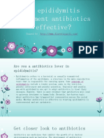 Is Epididymitis Treatment Antibiotics Effective