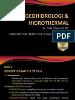 Geohidrologi and Hidrothermal