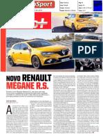 """NOVO RENAULT MÉGANE R.S. NO """"AUTOSPORT"""""""
