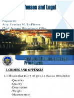 10. Customs Offenses and Laws Atty. Jemina Sy Flores
