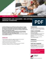 """Présentation du module de formation continue """"Observer mieux vos utilisateurs / Design Thinking"""""""