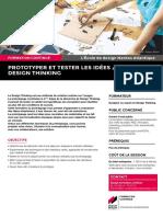 """""""Prototyper et tester les idées / Design Thinking"""""""