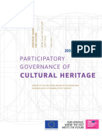 Participatory governance of cultural heritage