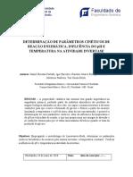 Relatório de laboratório de engenharia química